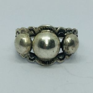 **SOLD**  40s Sterling Southwestern Dome Ring